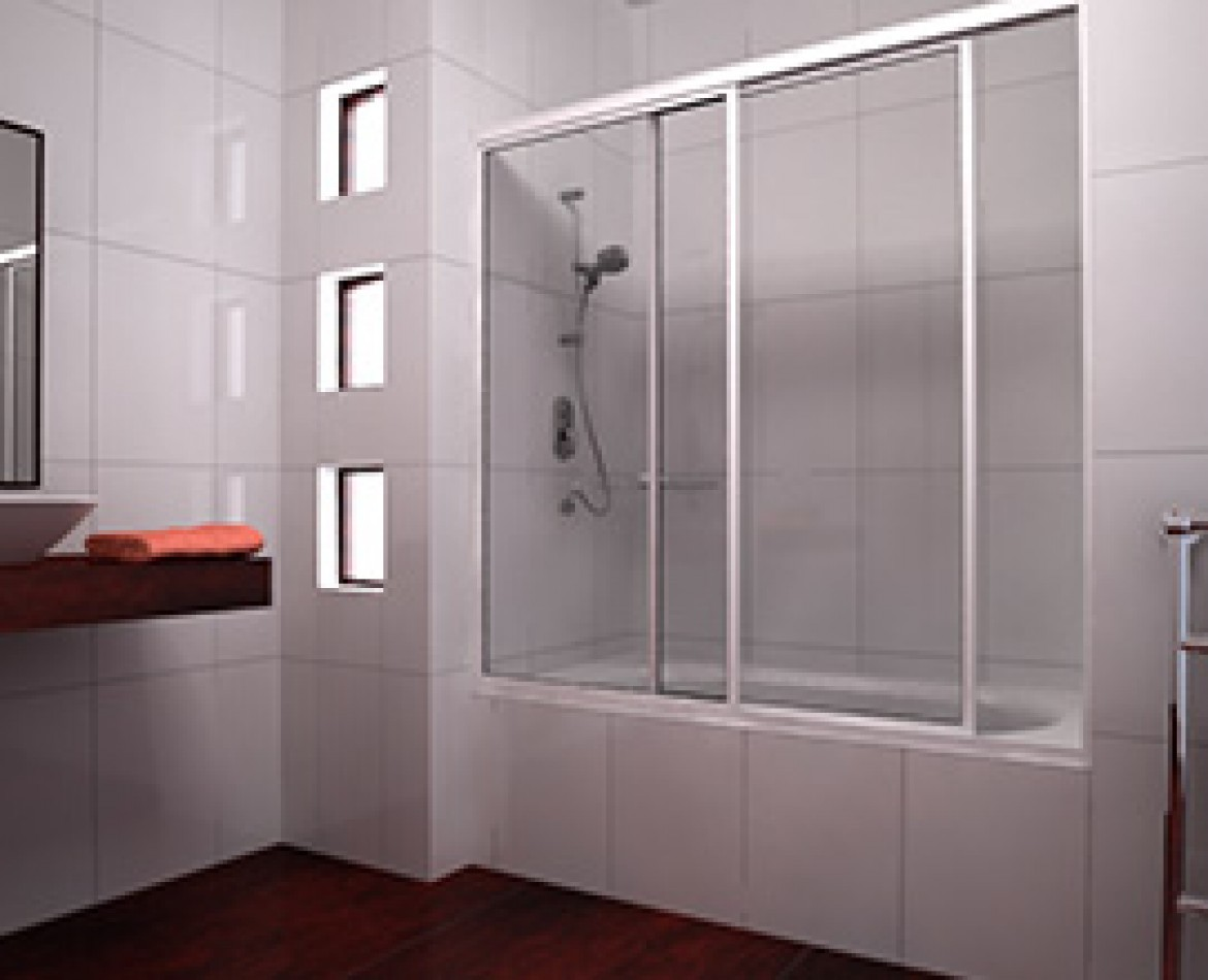 Considers profile in the joint of the panels. 4mm thick tempered glass clear striped or frosted. Two sliding doors (one can be fixed u2013 on site). & Wintec » Category » Shower Door